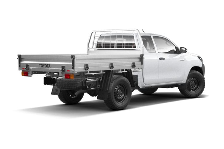 Toyota Hilux PickUp Extra Cab 4wd 3.5t 2.4 D-4D 4WD 150PS Active Tipper Tipper Double Cab Manual [Safety Sense] back view