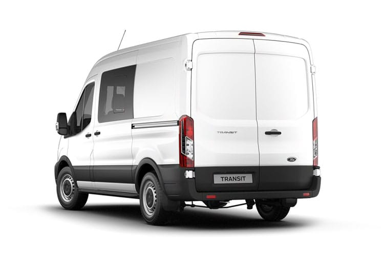 Ford Transit 350 L3 RWD 2.0 EcoBlue RWD 170PS Trend Crew Van High Roof Manual [Start Stop] [DCiV] back view